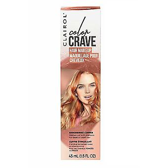 Clairol Color Crave Hair Make Up Washes Out with Shampoo 45ml Shimmering Copper