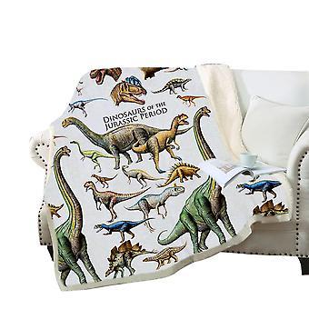 3D-одеяло с печатью динозавра, мягкое флисовое одеяло, для взрослых и детей
