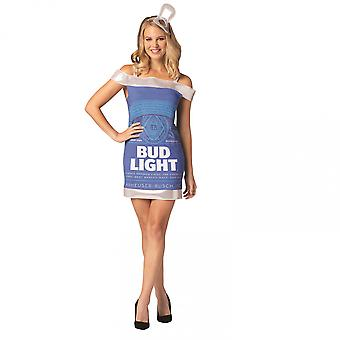 Bud Light Beer Can Dress Costume
