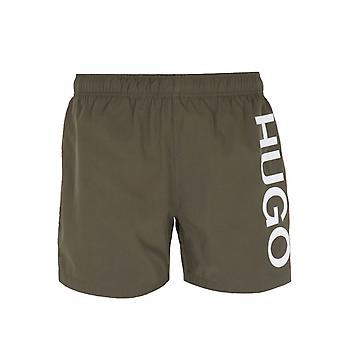 HUGO Abas Large Logo Forest Green Swim Shorts
