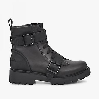 UGG Noe Ladies Leather Ankle Boots Black
