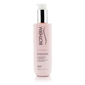 Biosource softening & make up removing milk for dry skin 206220 200ml/6.76oz