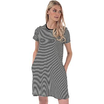 Women's Only May Life A-Line Stripe Dress in Black