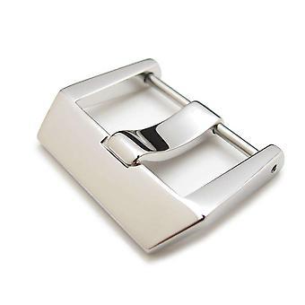 Strapcode horloge gesp 24mm hoge kwaliteit 316l roestvrij stalen schroef type 4mm tong gesp, gepolijste afwerking