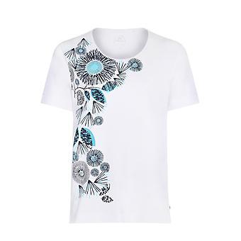 TIGI White Flower Print T-Shirt