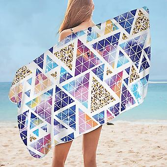 Space Triangles Abstract Microfiber Beach Towel