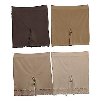 Breezies Shaper Seamless Smoothing Mid-Thigh Short Set of 4 Beige A374503