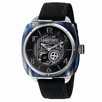Briston 201042.SA.BL.1.CH Streamliner Skeleton Blue Acetate Wristwatch