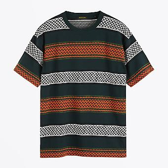 Scotch & Soda  - Jacquard Crew T-shirt - Multi