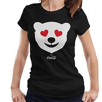 Coca Cola Polar Bear liefde vrouwen T-shirt