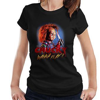 Chucky Hi Wanna Play Women's T-Shirt