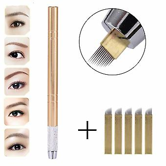 3d Eyebrow Tattoo Micro Blading Pen Of Stainless Steel Tattoo Supplies -