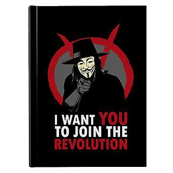 I Want You To Join The Revolution V For Vendetta Hardback Journal