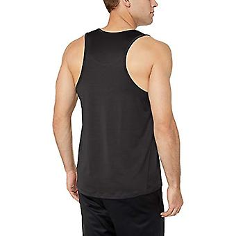 Essentials Men's Tech Stretch Performance Tank Top Shirt, Black, Large