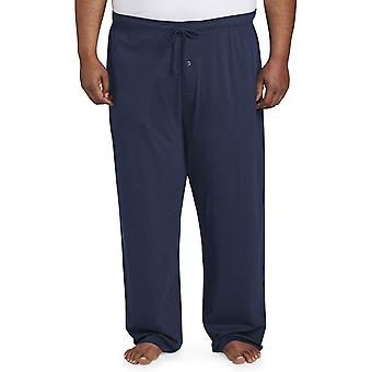 Essentials Men's Big and Tall Knit Pajama Pant fit by DXL, Navy, 3XLT