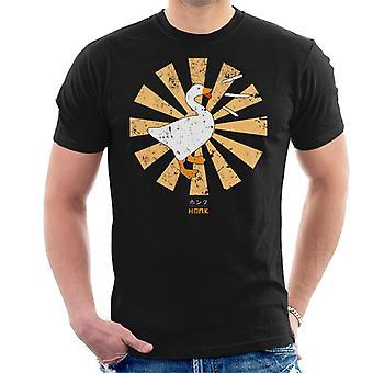 Honk Goose Retro Japanese Men's T-Shirt
