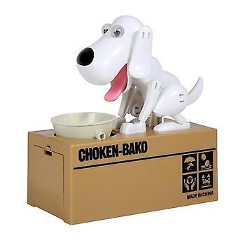 الإبداعية لطيف الروبوتية Dogالمال إنقاذ عملة مربع بنك الخنزير