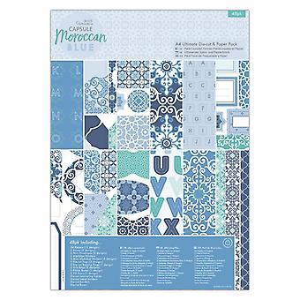 Papermania Capsule A4 Ultimate Die-cut en Papieren verpakking Marokkaans blauw