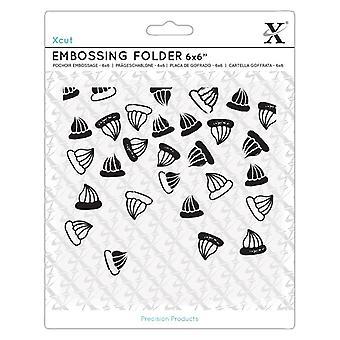Xcut 6x6 Inch Embossing Folder Sweet Treats Iced Gems