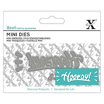 Xcut Mini Sentiment Die Hurra!