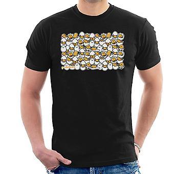 Gudetama Ei Shell Montage Men's T-Shirt
