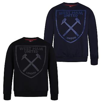 West Ham United Mens Sweatshirt Graphic Top OFFICIAL Football Gift