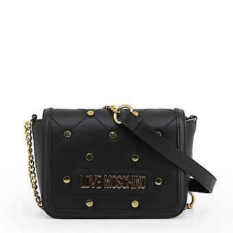 Love moschino jc4099p women's front visible logo crossbody bag