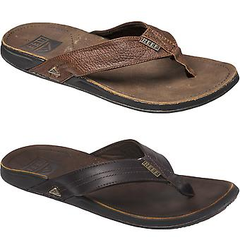 Reef Mens J-Bay III Leather Summer Beach Holiday Pool Flip Flops Sandals