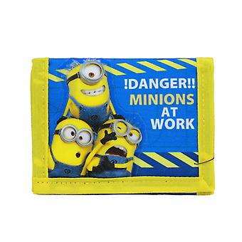 Trifold Wallet Despicable Me Danger Minions at Work Blue dl30169
