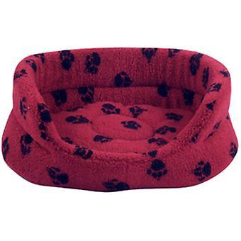 Dinamarquês Design Oval Slumber Bed - Wine Red - 18 polegadas