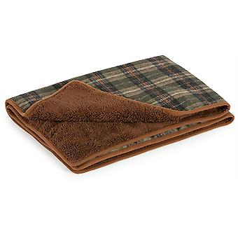Ancol Heritage Blanket Check - 110x 72cm - Green