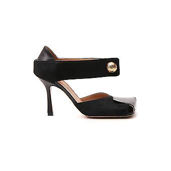 Bottega Veneta 592217vbrd21000 Women's Black Leather Sandals