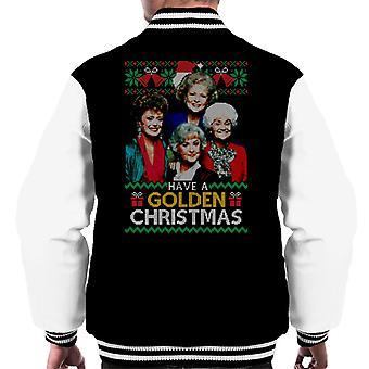 Haben Sie eine goldene Weihnachten die Goldenen Mädchen Männer's Varsity Jacke