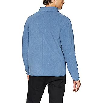 Essentials Men's Full-zip Polar Fleece Giacca, Blu Heather, X-Small