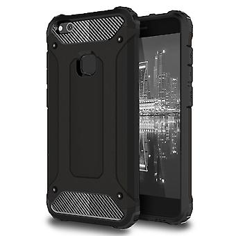 Shell for Huawei P10 Lite - Hard Armor Protection Black Case