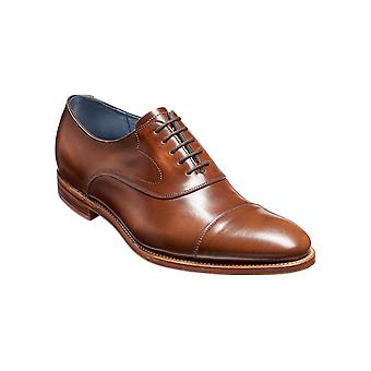 Barker Hartley - Cedar Hi-Shine ? Oxford de cuero hecho a mano para hombres Zapatos Barker