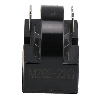 Frigider Compresor PTC Releu Starter 22 Ohm 2 Pini Negru