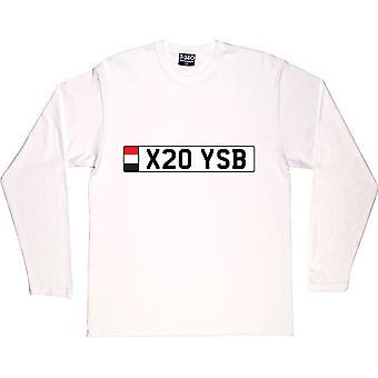 Camiseta branca X20 YSB de manga comprida