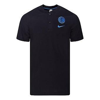 2020-2021 Inter Milan Autentisk pikétröja (svart)