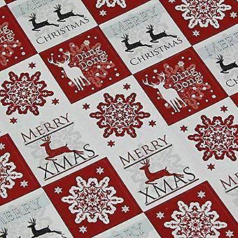 Christmas Stickers - Snowflake and Reindeer Red x 35 Xmas