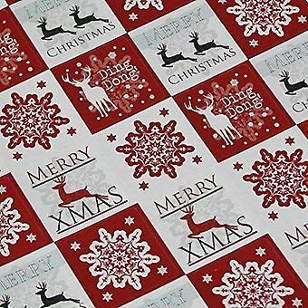 Christmas klistremerker - snøfnugg og reinsdyr rød x 35 Xmas