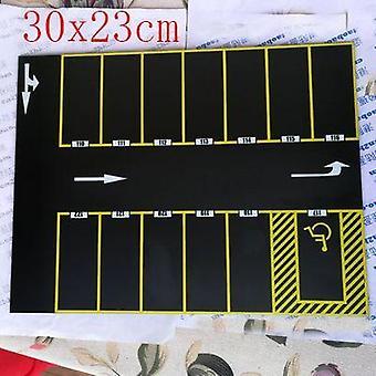 1/64 Imitation Scene Model - Parking, Assembled Floor Acrylic Garage Toy