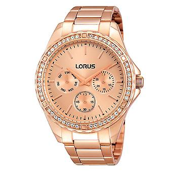 Lorus Damen Rose Gold Armband Uhr mit 48 Kristallelemente (Modell. RP650BX9)