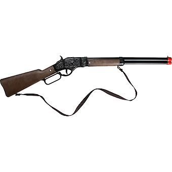 CAP GUN  - 99/6 - Gonher Cowboy Rifle 8 Shots BK