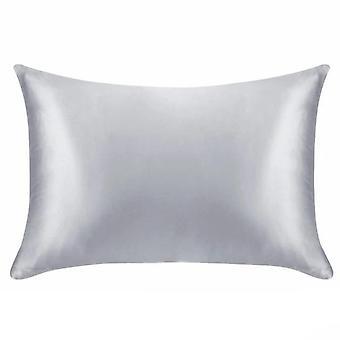 Queen Standard Satin Silk Soft Plain Pillowcase Cover