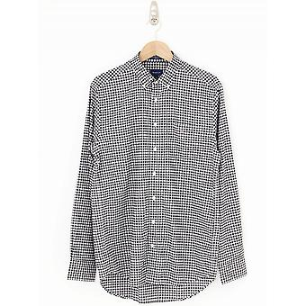 GANT Broadcloth Gingham Shirt - Black/White