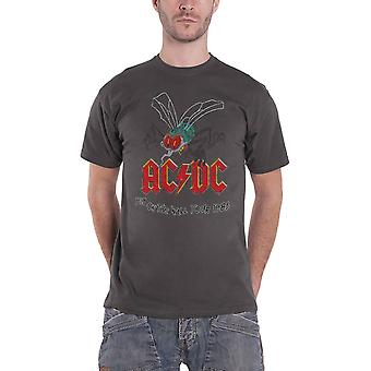 AC/DC T Shirt Fly On The Wall Tour 1985 new Official Mens Charcoal Grey