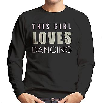 Strictly Come Dancing This Girl Loves Glitter Print Men's Sweatshirt