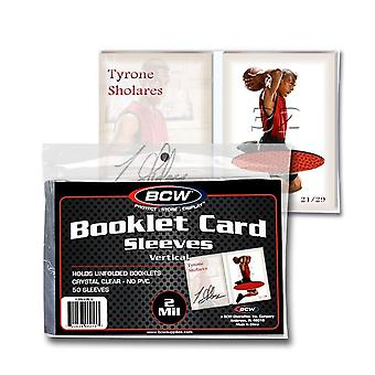 "BCW Booklet Card Sleeves (5"" 3/8 x 3"" 11/16)"