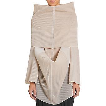 Rick Owens Ro17s3600ksp21 Women's Beige Silk Sweater
